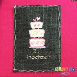 Postkarte «Zur Hochzeit / Torte»