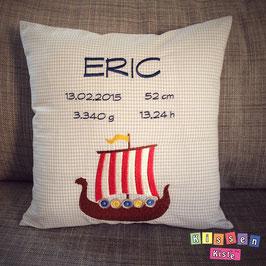 Kissen zur Geburt «Eric»
