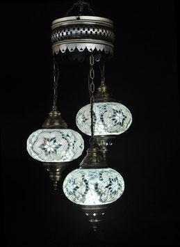 3er Kettenlampe in Glasgrößen NO. 2 oder 3