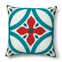 Soft Tiles® #5 throw pillow/coixí
