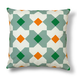 Soft Tiles® #10 throw pillow/coixí
