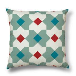 Soft Tiles® #4 throw pillow/coixí
