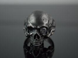 """Skullring  Sterling Silver """"Black Skull"""""""