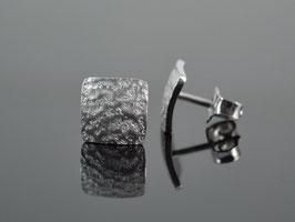 """Ohrstecker """"Stone""""  Silber rhodieniert"""