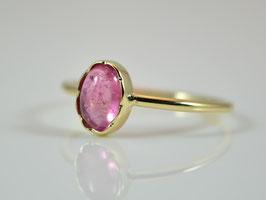 Feiner 585er Goldring mit rosa Turmalin
