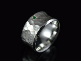 """Ring """"Concave Smaragd"""" Silber"""