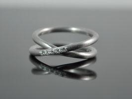 """Silber-Ring """"Marilyn"""" 925er Silber rhodiniert"""