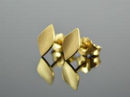 """Ohrstecker """"Hojita Gold 2 """", 925 Silber vergoldet/ handgemacht"""