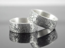 "Trauringe - Partnerringe Silber ""Concretum 2"""