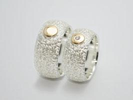 Eheringe/ Trauringe Gold/Silber mit Brillant