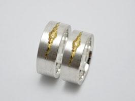 """Trauringe / Eherringe """"BeLoved """" Silber - 585 Gold"""