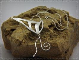 Collier Schmetterlingsflügel , 925er Silber