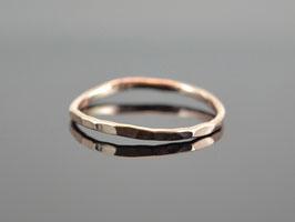 "Vorsteck-Ring ""Minimalistic gehämmert"" handgefertigter Ring aus  585er Roségold"