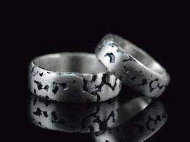 "Trauringe - Partnerringe Silber ""Concretum"""
