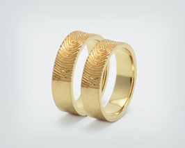 "Partnerringe / Trauringe "" Fingerabdruck "" Gold"