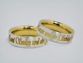 """Partnerringe Silber / Gold """"Zwei Seelen"""""""