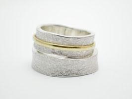 """Verlobungsringe Silber / Gold """"Verdreht"""""""