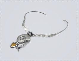 """Silber / Gold - Halsreif """"Nautilus"""" Unikat"""