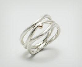 """925er Silber-Ring mit 585er Gold """"Tejido"""""""