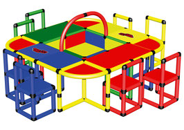 Playtable with 8 Chairs