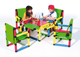 Playtable with 4 Armchairs