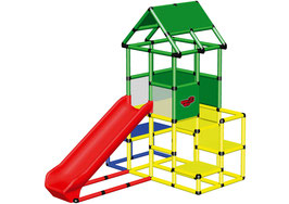 Large Playtower with Integrated Slide