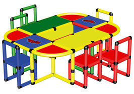 Playtable with 6 Chairs