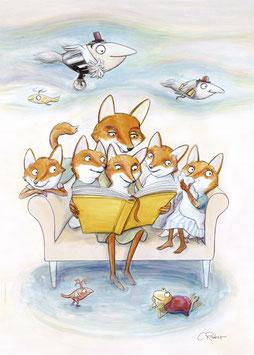 Plakat Familie Fuchs