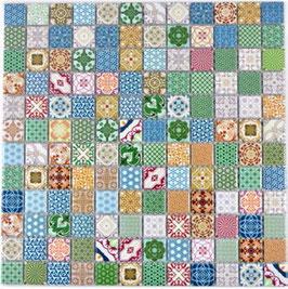 Retro Mosaik bunt h10024