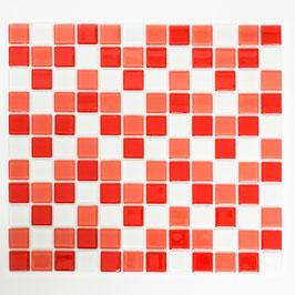 Timeless Mosaik mix weiß mit rot 4mm h10836 oder 8mm h10839