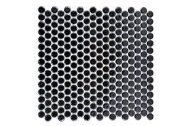 Knopfmosaik schwarz glänzend h10107 Knopf 890