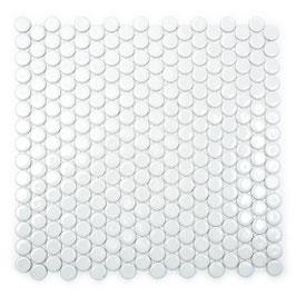 Knopfmosaik uni weiss glänzend h10103 Knopf 100