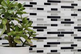 Improve Mosaik 4er Pack selbstklebendes Vinyl mix silber schwarz weiß h11155