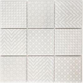 Retro Mosaik weiß h10013 GEOW