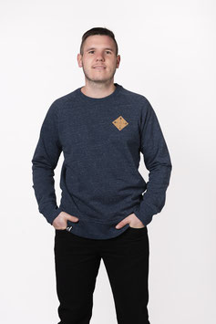 "Sweater ""SNAPPY GUY"" dark heather denim"