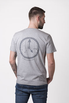 "T- Shirt ""Dirtclock"" heather grey"