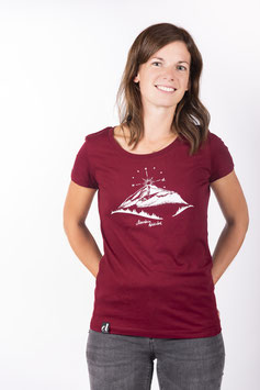 "T- Shirt ""Mountain Love"" Burgundy"