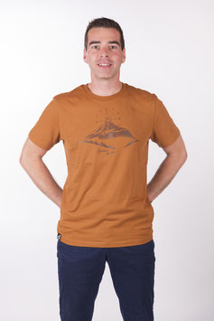 "T- Shirt ""Mountain Love"" roasted orange"