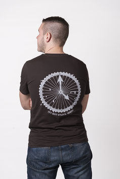 "T- Shirt ""Dirtclock"" deep chocolate"