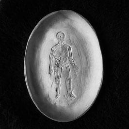 decorative tray, skeleton