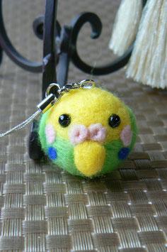 ころんとかわいい小鳥たち・セキセイインコ(ストラップorボールチェーンorイヤホンジャック)
