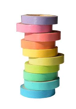 Masking Tapes regenbogenfarbig (10er-Set)