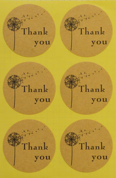 "Stickers rund ""Thank you"""
