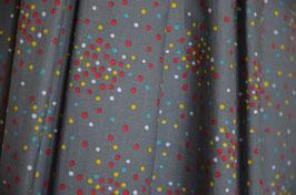 MERLE  grau mit bunten Punkten