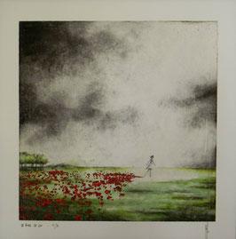 """NUMERIGRAPHIE - Antoine Josse - """"La robe de lin"""" - Réf. 263 - Exemplaire N°6/30 - SANS ENCADREMENT"""