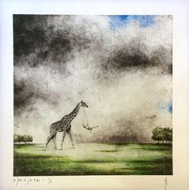 """NUMERIGRAPHIE - Antoine Josse - """"Le jour où j'ai 5 ans"""" - Réf. 268 - Exemplaire N°6/30 - SANS ENCADREMENT"""