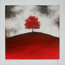 """NUMERIGRAPHIE - Antoine Josse - """"Ce que cache la colline"""" - Réf. 267 - Exemplaire N°9/30 - SANS ENCADREMENT"""