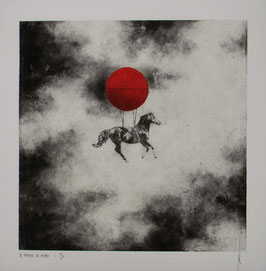 """NUMERIGRAPHIE - Antoine Josse - """"Le chasseur de nuages"""" - Réf. 269 - Exemplaire N°3/30 - SANS ENCADREMENT"""