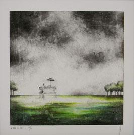 """NUMERIGRAPHIE - Antoine Josse - """"La place du vide"""" - Réf. 265 - Exemplaire N°1/30 - SANS ENCADREMENT"""