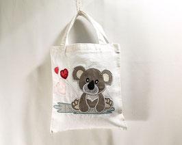 Mini tote bag pour enfant, petit sac brodé pour le doudous ou le goûter